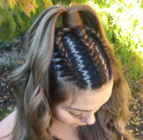 31 Incredible Half Up Half Down Prom Hairstyles Within Dutch Braid Prom Updos (View 15 of 25)