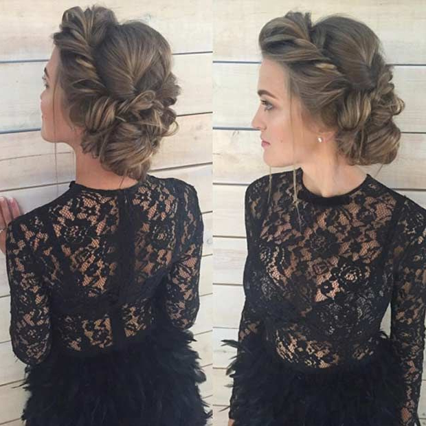 31 Most Beautiful Updos For Prom | Hair Diy | Prom Hair, Hair Styles Regarding Twisting Braided Prom Updos (View 25 of 25)