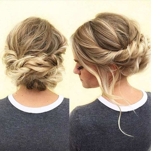 31 Most Beautiful Updos For Prom | Page 2 Of 3 | Stayglam In Twisted Low Bun Hairstyles For Prom (View 11 of 25)