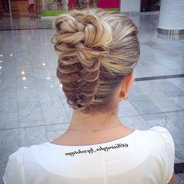 31 Most Beautiful Updos For Prom | Page 2 Of 3 | Stayglam In Upside Down Braid And Bun Prom Hairstyles (View 3 of 25)