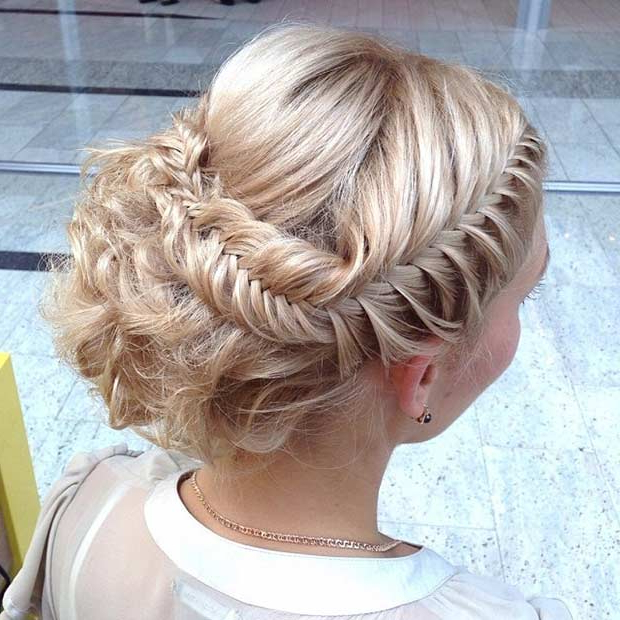 31 Most Beautiful Updos For Prom | Page 2 Of 3 | Stayglam Throughout Romantic Prom Updos With Braids (View 6 of 25)