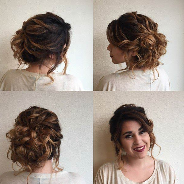 31 Most Beautiful Updos For Prom | Page 2 Of 3 | Stayglam With Big Curly Bun Prom Updos (View 12 of 25)