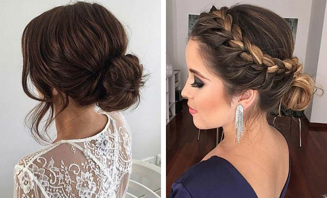 31 Most Beautiful Updos For Prom   Stayglam In Bun And Three Side Braids Prom Updos (View 11 of 25)