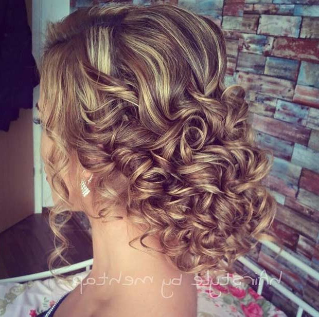 31 Most Beautiful Updos For Prom | Stayglam Throughout Curly Long Hairstyles For Prom (View 17 of 25)