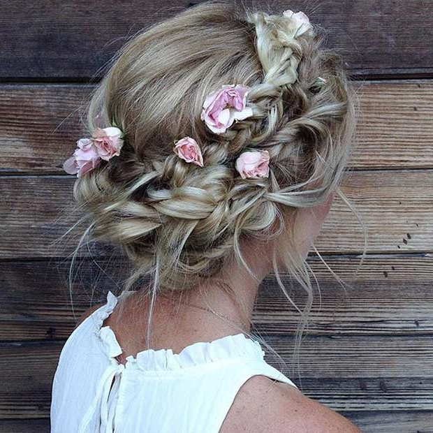 31 Most Beautiful Updos For Prom | Stayglam Within Messy Braided Prom Updos (View 12 of 25)