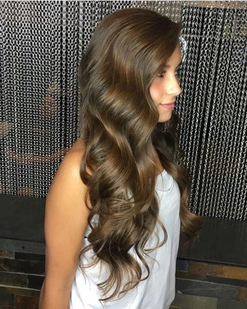 31 Prom Hairstyles For Long Hair That Are Gorgeous In 2019 Intended For Side Swept Brunette Waves Hairstyles For Prom (View 8 of 25)