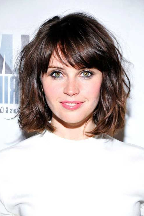 32 Perfect Hairstyles For Round Face Women – Hairstyles & Haircuts Throughout Round Face Long Hairstyles With Bangs (View 10 of 25)