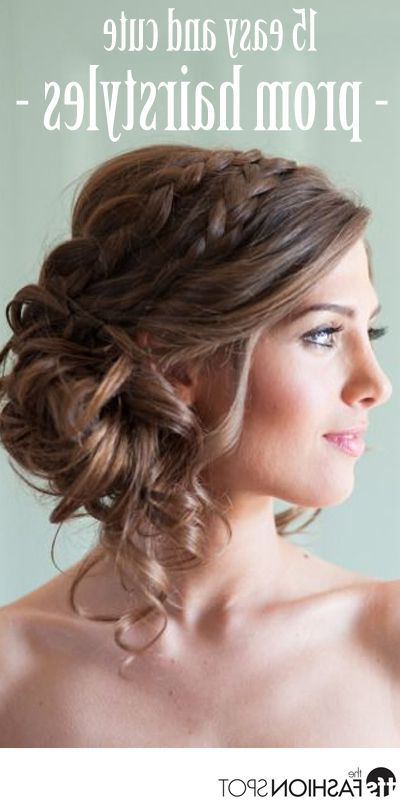 32 Pretty And Easy Prom Hairstyles | Hair | Prom Hair, Simple Prom Inside Vintage Updos Hairstyles For Long Hair (View 12 of 25)