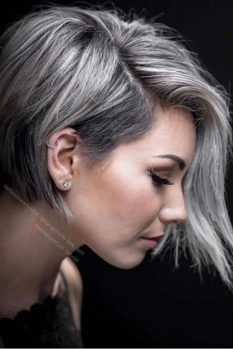 33 Short Grey Hair Cuts And Styles | Lovehairstyles Pertaining To Long Hairstyles For Grey Haired Woman (View 4 of 25)