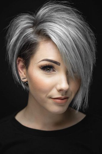 33 Short Grey Hair Cuts And Styles | Lovehairstyles Throughout Long Hairstyles For Grey Haired Woman (View 5 of 25)