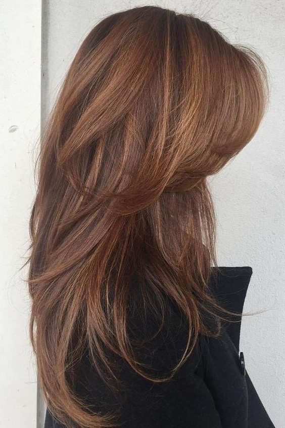 33 Textured Revealing Layered Haircuts | Hair | Hair, Hair Cuts In Long Texture Revealing Layers Hairstyles (View 9 of 25)