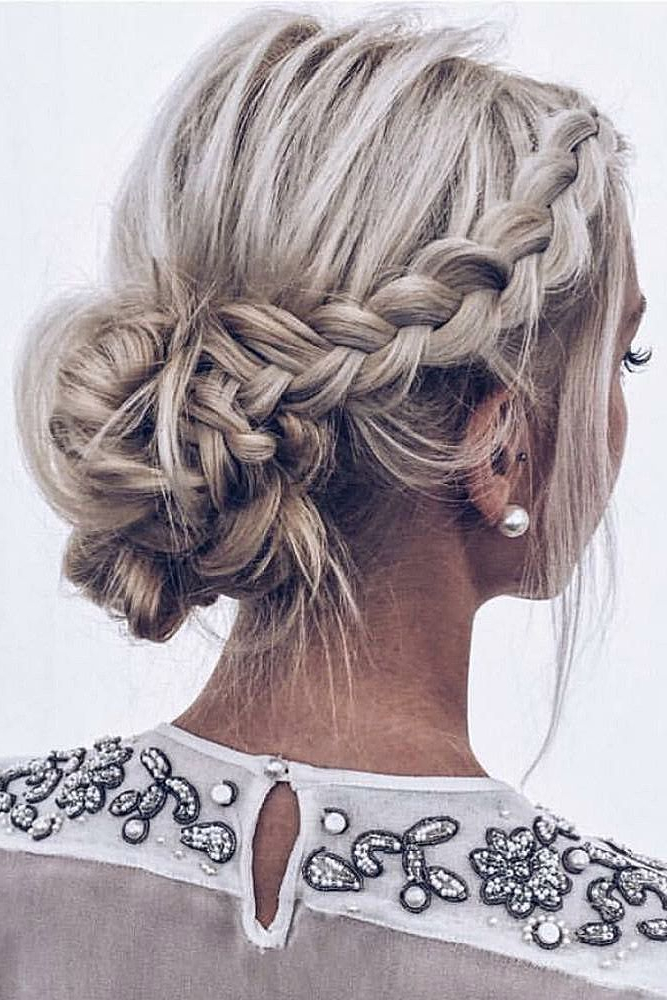 33 Wedding Updos For Short Hair | Wedding Hair And Makeup | Short Throughout Braid Spikelet Prom Hairstyles (View 3 of 25)