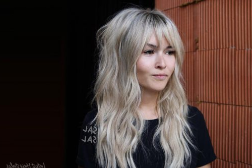 34 Cutest Long Layered Haircuts Trending In 2019 For Long Layered Waves And Cute Bangs Hairstyles (View 4 of 25)