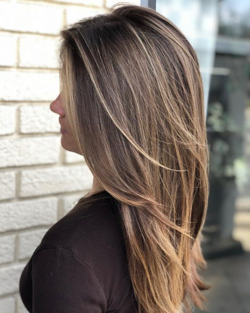34 Cutest Long Layered Haircuts Trending In 2019 For Reddish Brown Hairstyles With Long V Cut Layers (View 6 of 25)