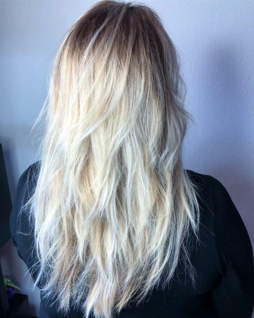 34 Cutest Long Layered Haircuts Trending In 2019 Regarding Choppy Layers Long Hairstyles With Highlights (View 9 of 25)