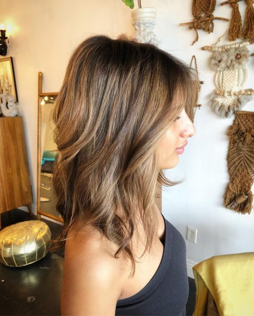34 Cutest Long Layered Haircuts Trending In 2019 Regarding Messy Haircuts With Randomly Chopped Layers (View 12 of 25)