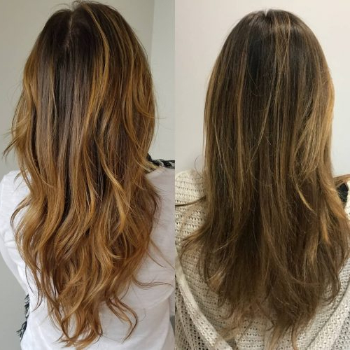 34 Cutest Long Layered Haircuts Trending In 2019 Regarding Reddish Brown Hairstyles With Long V Cut Layers (View 9 of 25)