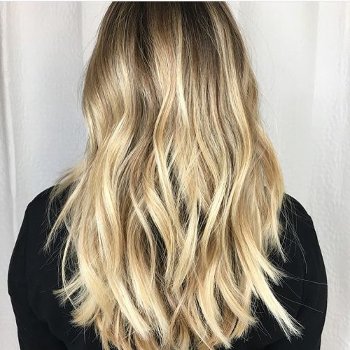 34 Cutest Long Layered Haircuts Trending In 2019 Throughout Brown Blonde Hair With Long Layers Hairstyles (View 5 of 25)