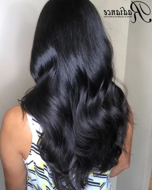 34 Cutest Long Layered Haircuts Trending In 2019 Within Black Long Layered Hairstyles (View 3 of 25)