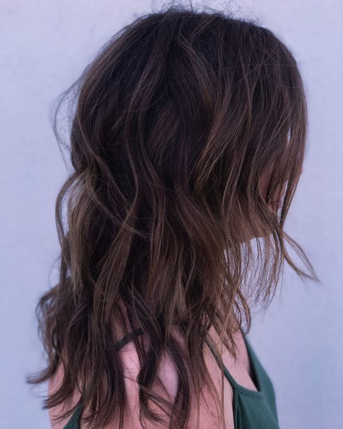 34 Cutest Long Layered Haircuts Trending In 2019 Within Reddish Brown Hairstyles With Long V Cut Layers (View 3 of 25)