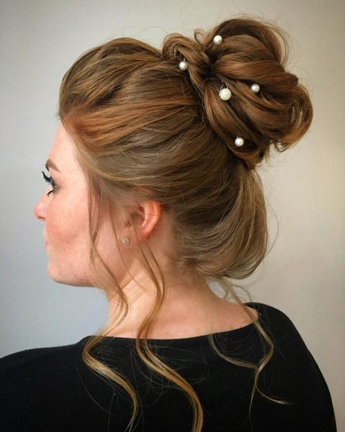 34 Cutest Prom Updos For 2019 – Easy Updo Hairstyles Inside Asymmetrical Knotted Prom Updos (View 3 of 25)