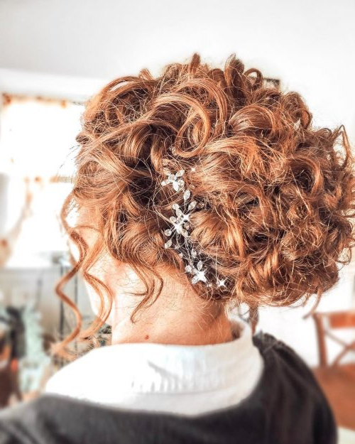 34 Cutest Prom Updos For 2019 – Easy Updo Hairstyles Regarding Big Curly Bun Prom Updos (View 24 of 25)