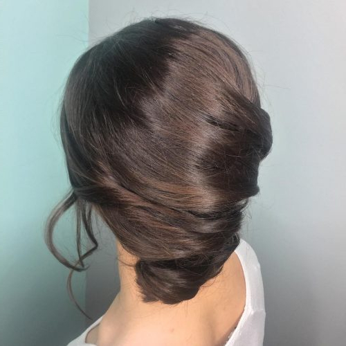 34 Cutest Prom Updos For 2019 – Easy Updo Hairstyles With Regard To French Roll Prom Hairstyles (View 17 of 25)