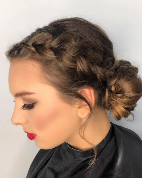 34 Cutest Prom Updos For 2019 – Easy Updo Hairstyles With Volumized Low Chignon Prom Hairstyles (View 18 of 25)