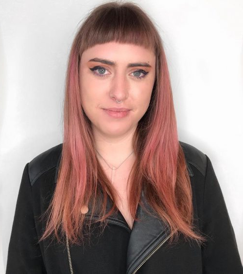 34 Short Bangs That Are Totally Hot In 2019 With Regard To Short Bangs Long Hairstyles (View 7 of 25)