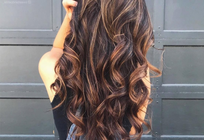 34 Sweetest Caramel Highlights On Light To Dark Brown Hair (2019) With Regard To Long Hairstyles Brown With Highlights (View 9 of 25)