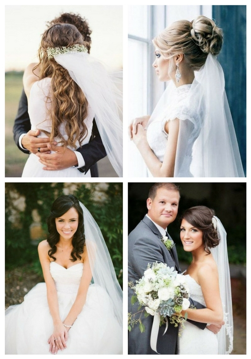 35 Adorable Wedding Hairstyles To Rock With A Veil | Happywedd For Long Hairstyles Veils Wedding (View 9 of 25)