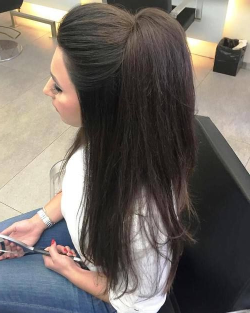 35 Fetching Hairstyles For Straight Hair To Sport This Season In For Half Up Hairstyles For Long Straight Hair (View 11 of 25)