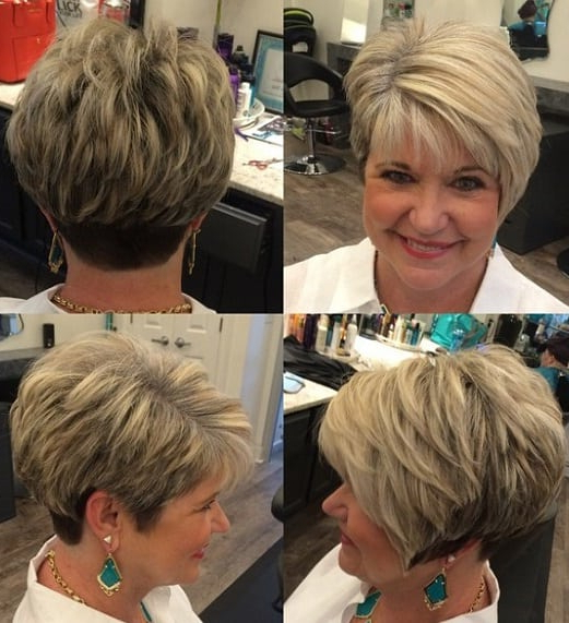 35 Greatest Short Hairstyles For Round Faces Over 50 In Long Hairstyles For Round Faces Over (View 12 of 25)