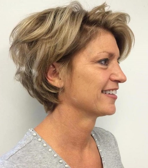 35 Greatest Short Hairstyles For Round Faces Over 50 Pertaining To Long Hairstyles For Round Faces Over (View 18 of 25)