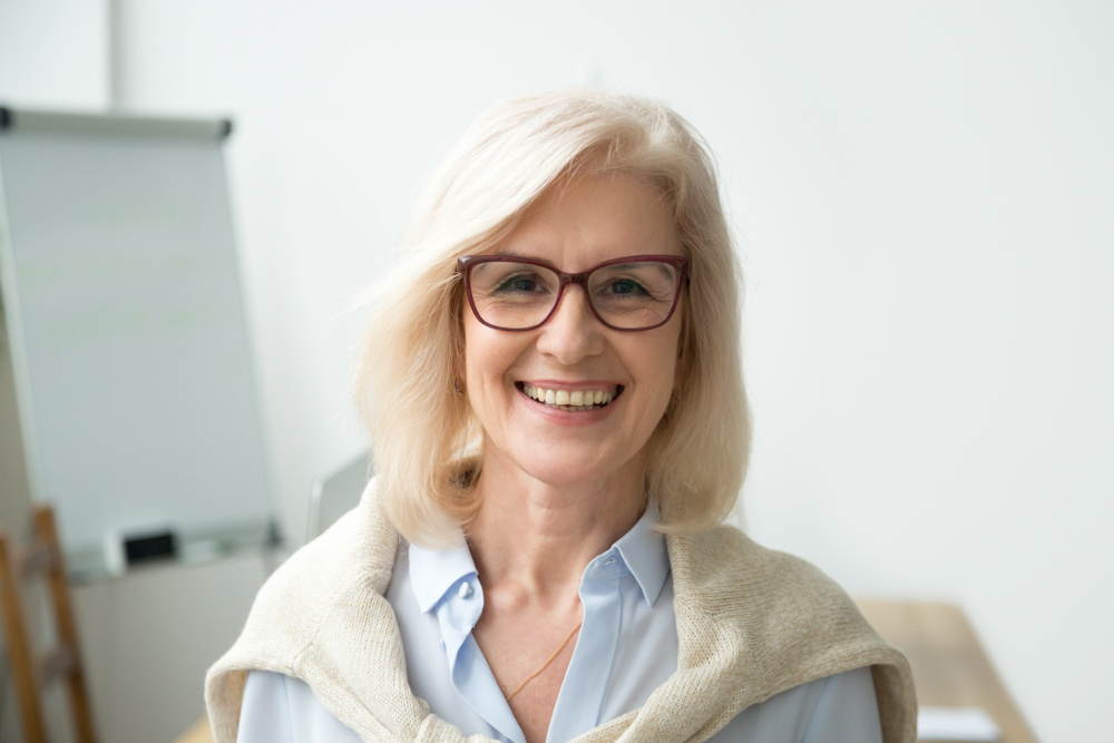 35 Hairstyles For Women Over 50 With Glasses (Photos) Regarding Long Hairstyles For Girls With Glasses (View 22 of 25)