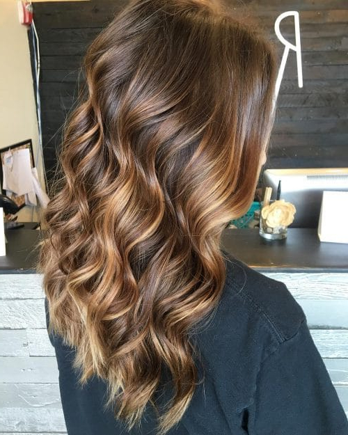 35 Hottest Chocolate Brown Hair Color Ideas Of 2019 Regarding Warm Toned Brown Hairstyles With Caramel Balayage (View 3 of 25)