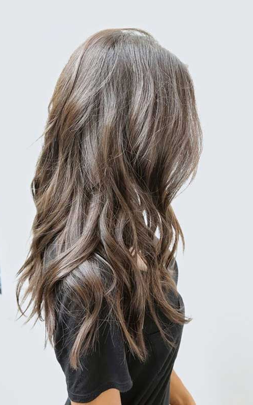35 Long Layered Cuts   Medium Hair   Hair Styles, Ash Brown Hair Throughout Long Layered Light Chocolate Brown Haircuts (View 6 of 25)