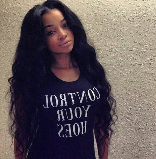 35 Simple But Beautiful Weave Hairstyles For Black Women | Hairstylo For Long Hairstyles Weave (View 21 of 25)