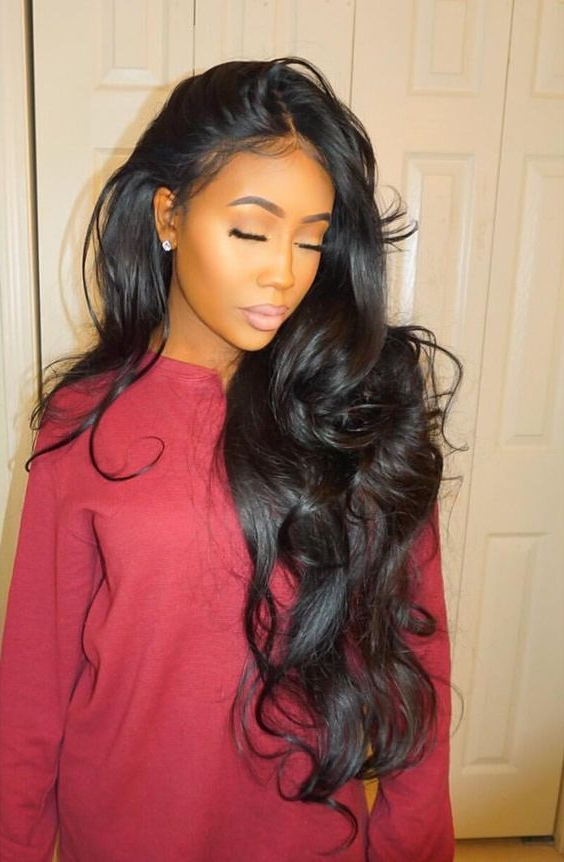 35 Stunning Sew In Hairstyles   Cute Weaves/wigs/hair Pieces   Curly Pertaining To Cute Long Hairstyles For Black Women (View 15 of 25)