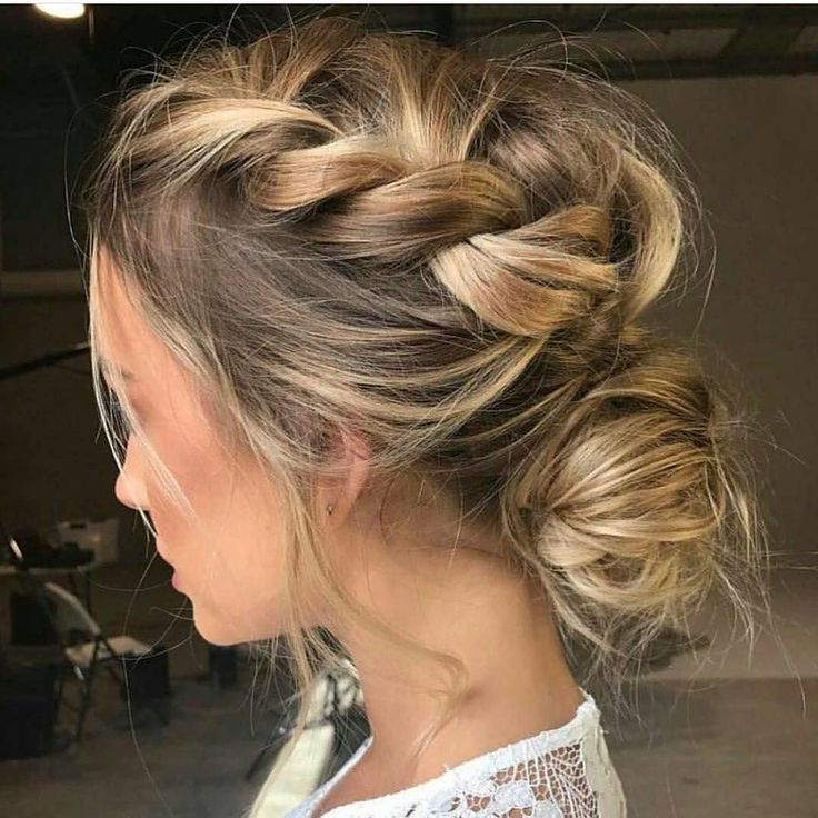 Featured Photo of Braided And Twisted Off Center Prom Updos