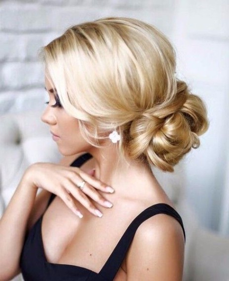 35 Trendy Prom Updos – Hairstyles & Haircuts For Men & Women Pertaining To Twisted Low Bun Hairstyles For Prom (View 20 of 25)