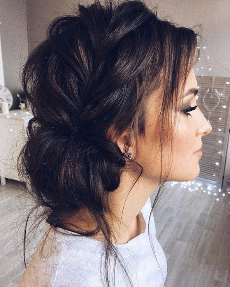 35 Trendy Prom Updos – Hairstyles & Haircuts For Men & Women With Messy High Bun Prom Updos (View 20 of 25)