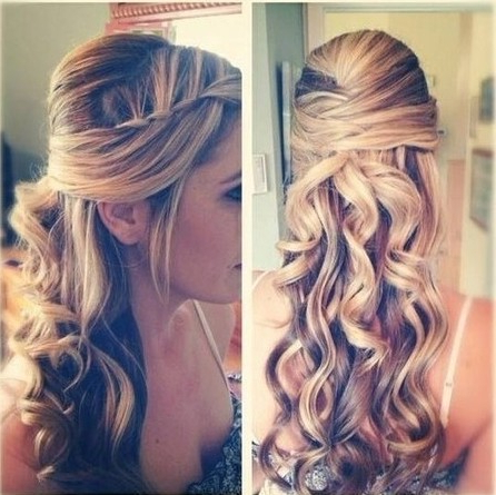 35 Wedding Hairstyles: Discover Next Year's Top Trends For Brides In Long Hairstyles Half Up Curls (View 23 of 25)