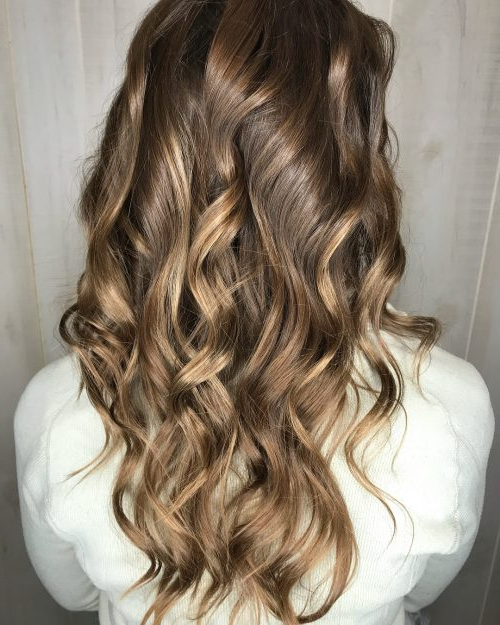 36 Curled Hairstyles Tending In 2019 – So Grab Your Hair Curling Wand! Within Long Layered Brunette Hairstyles With Curled Ends (View 11 of 25)