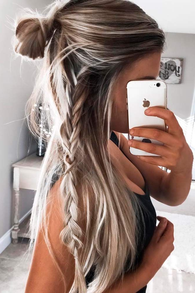 36 Five Minute Gorgeous And Easy Hairstyles | School | Hair Styles Regarding Long Easy Hairstyles Summer (View 25 of 25)