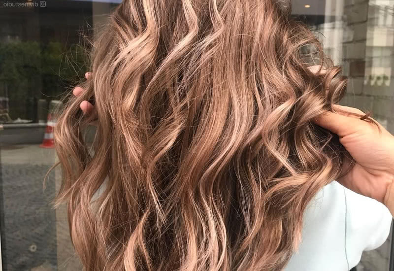 36 Light Brown Hair Colors That Are Blowing Up In 2019 Intended For Curly Golden Brown Balayage Long Hairstyles (View 23 of 25)