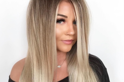 36 Perfect Hairstyles For Long Thin Hair (Trending For 2019!) Inside Sleek, Straight Tresses For Long Hairstyles (View 23 of 25)
