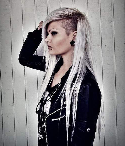 36 Sexy And Hot Half Shaved Hairstyles | 6 | Shaved Hair, Long Hair For Hairstyles For Long Hair Shaved Side (View 7 of 25)