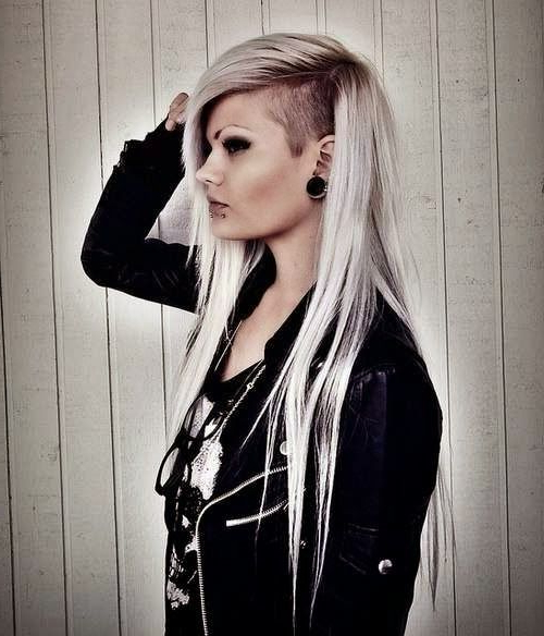 36 Sexy And Hot Half Shaved Hairstyles | Up Do Hair Styles For In Shaved And Long Hairstyles (View 6 of 25)