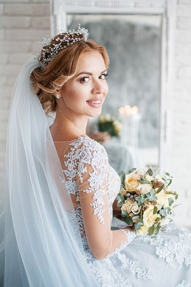 36 Wedding Hairstyles With Veil – My Stylish Zoo Pertaining To Long Hairstyles Veils Wedding (View 21 of 25)